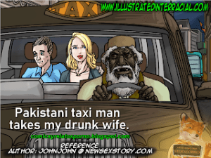 Pakistani Taxi [Illustrated Interracial]